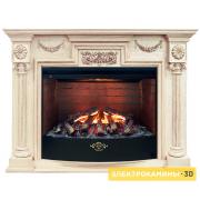 Электрический камин RealFlame London WT с очагом 3D Firestar 33 (Лондо 33 белый дуб)