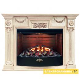Электрокамин RealFlame London WT + 3D Firestar 33